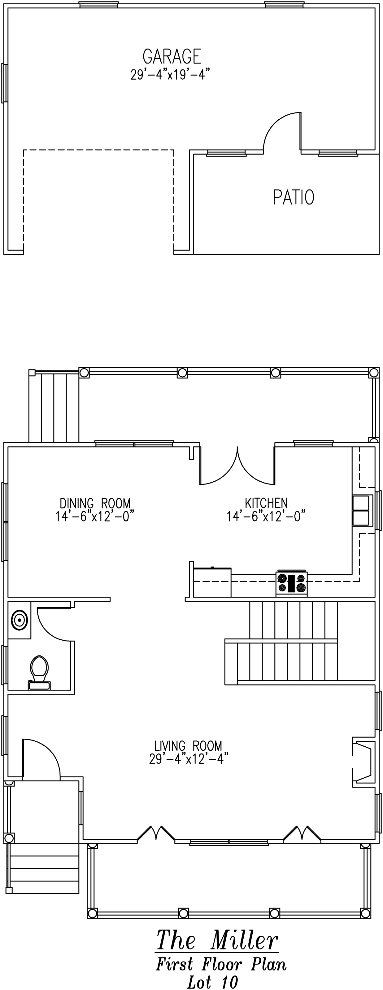 Miller First Floor Plans