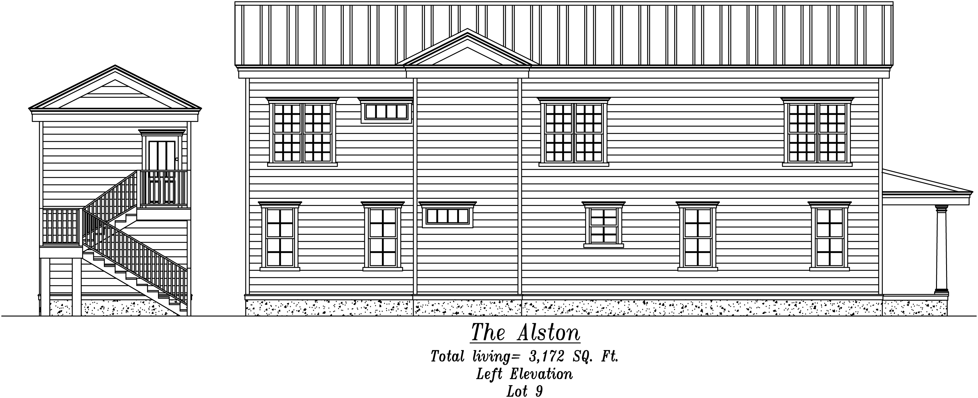 Alston Left Elevation
