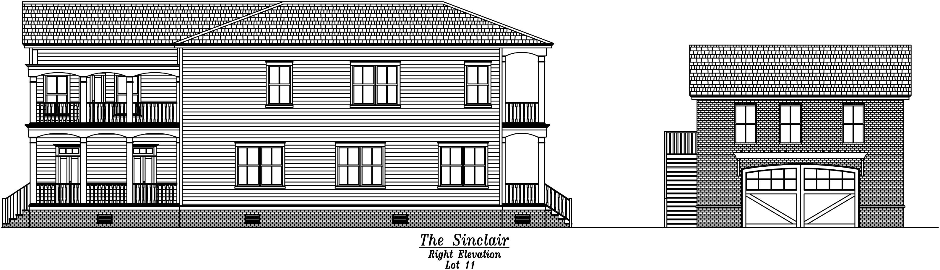 Sinclair Right Elevation