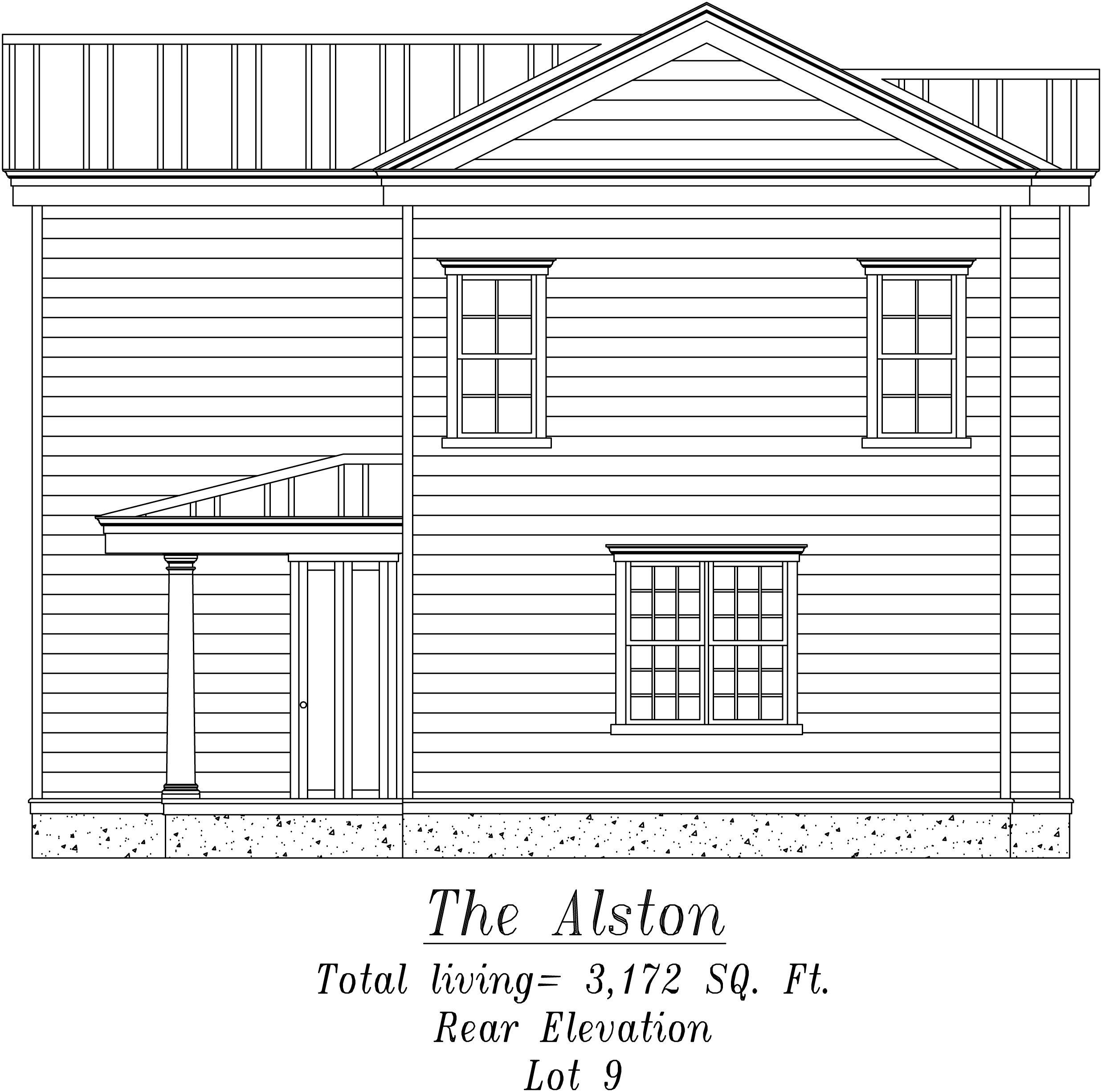 Alston Rear Elevation