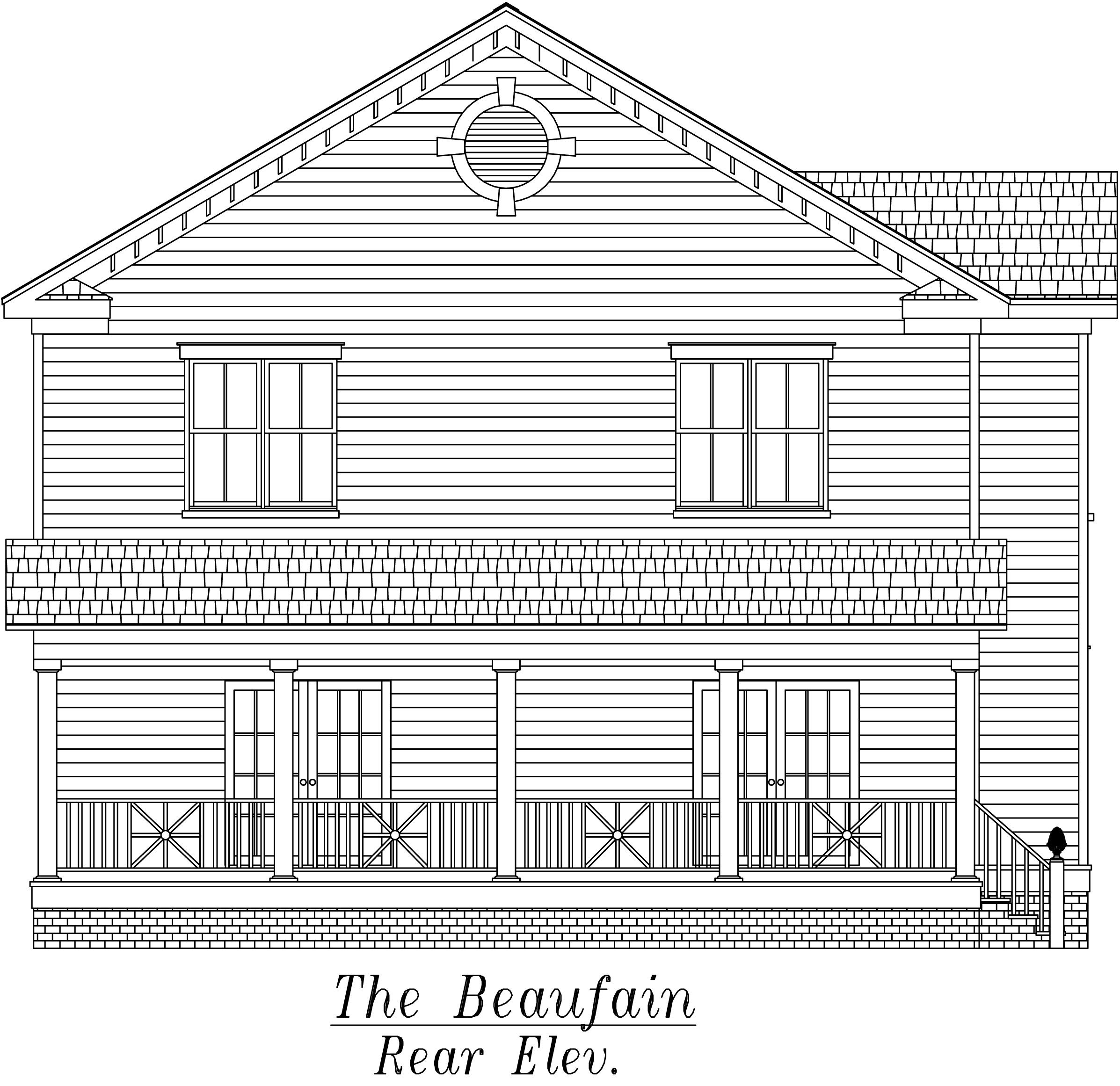 Beaufain Rear Elevation