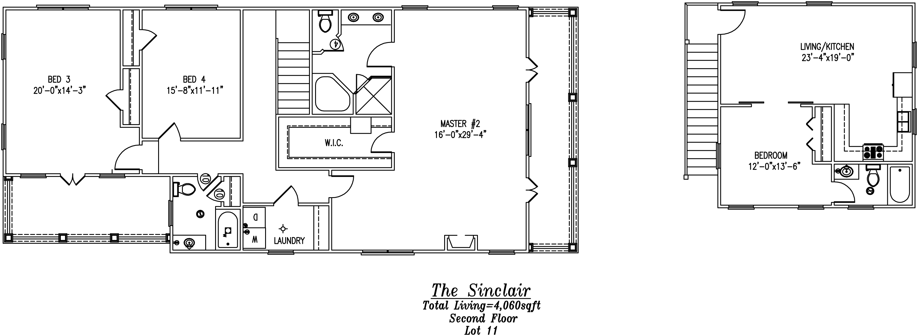 Sinclair Second Floor Plan