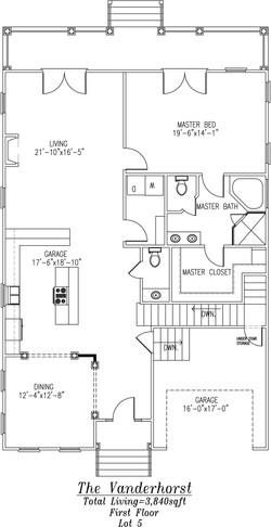 Vanderhorst First Floor Plan