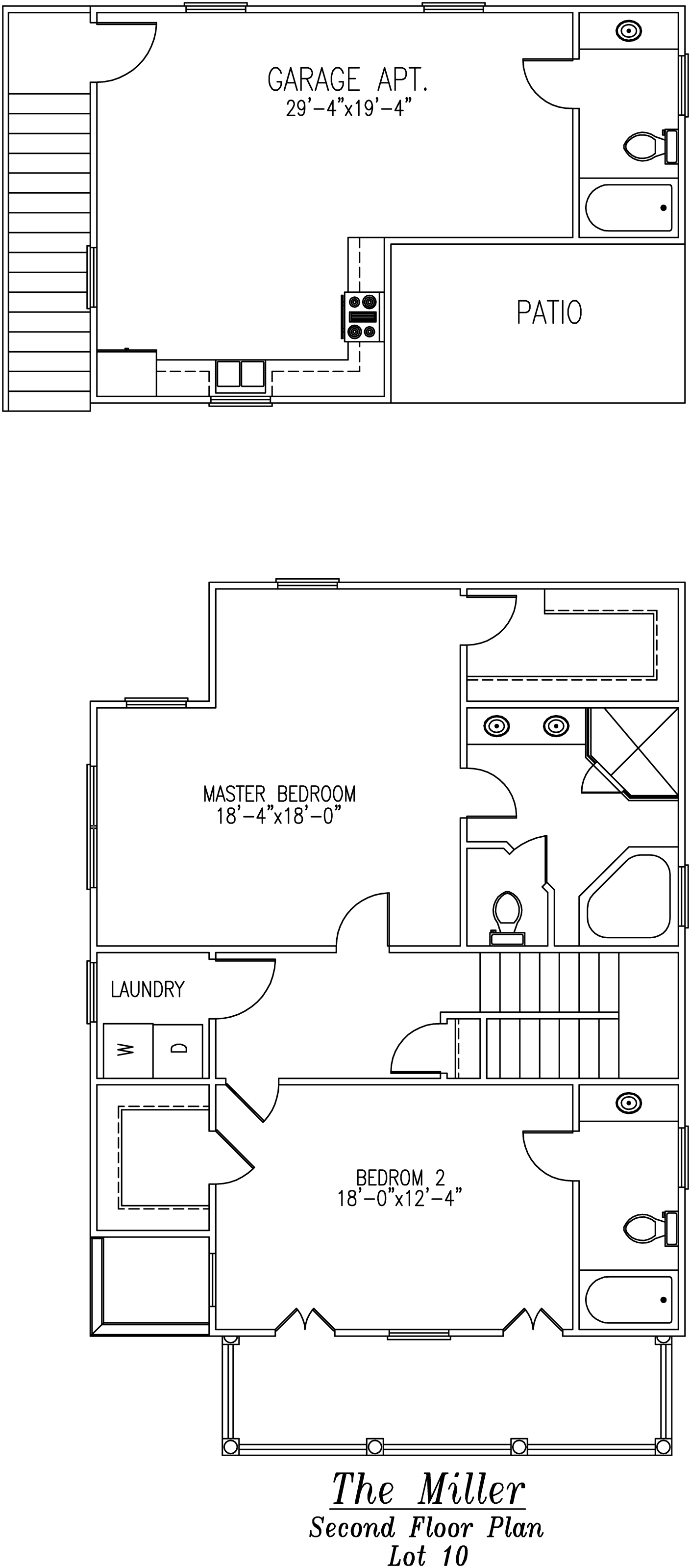 Miller Second Floor Plan