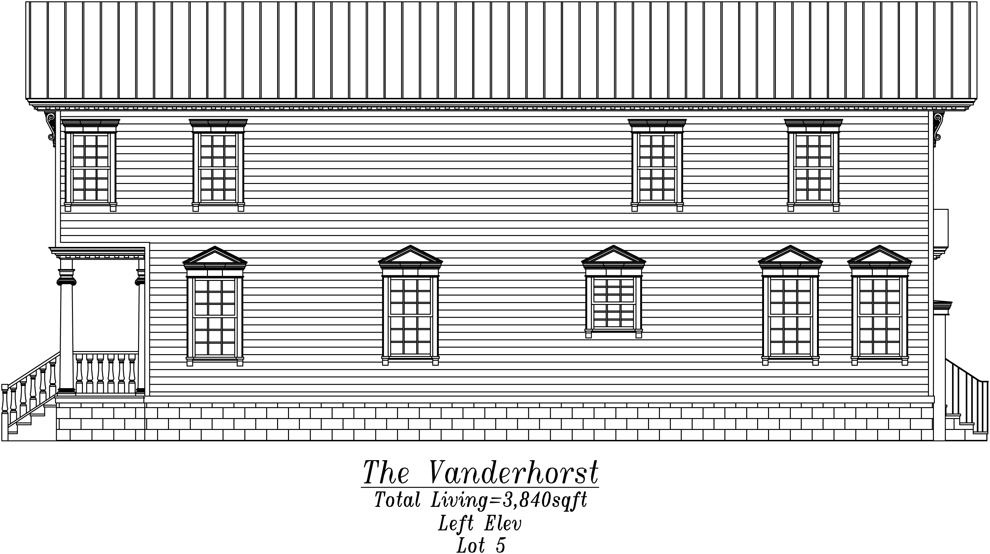 Vanderhorst Left Elevation