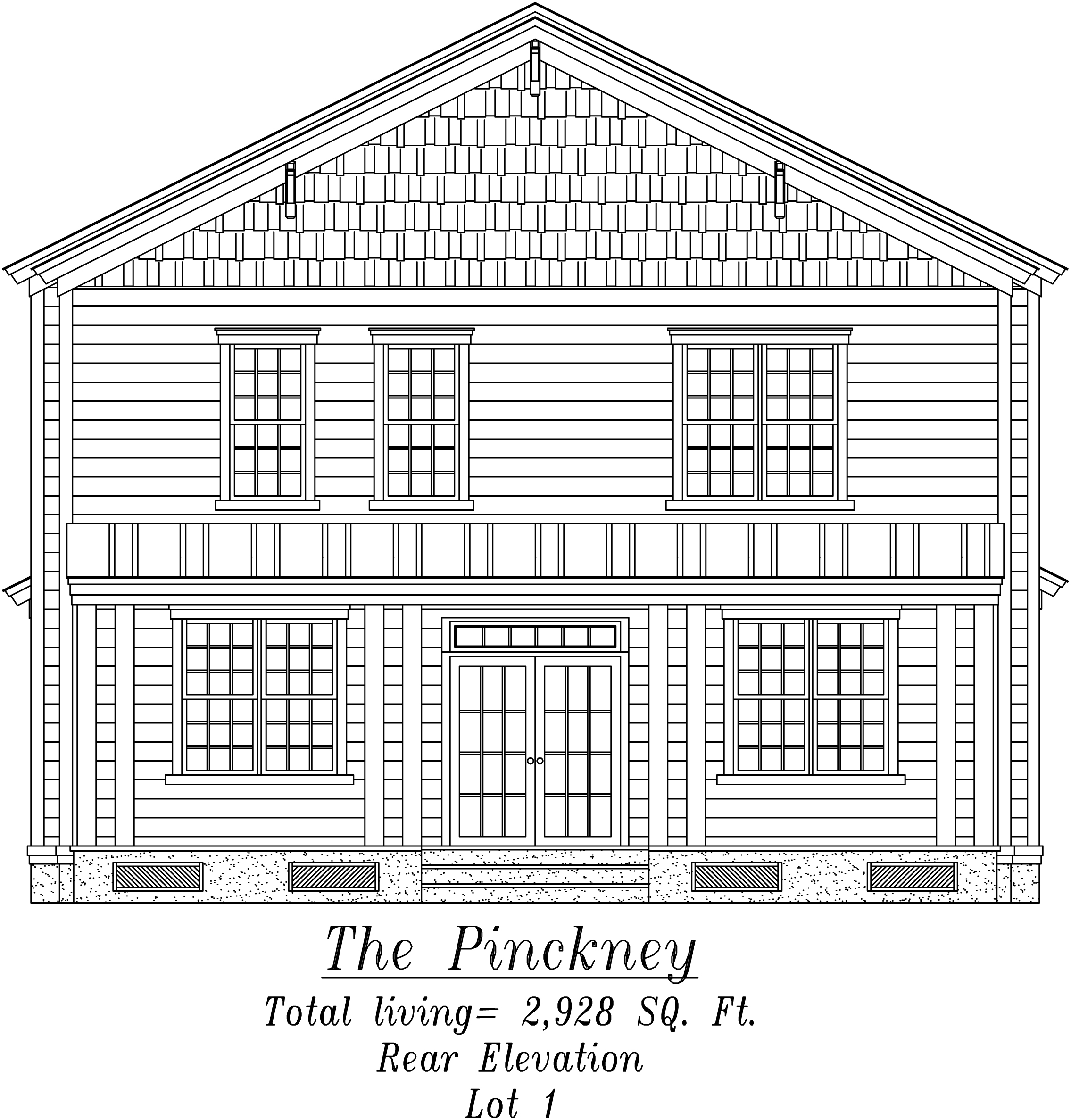 Pinckney Front Elevation