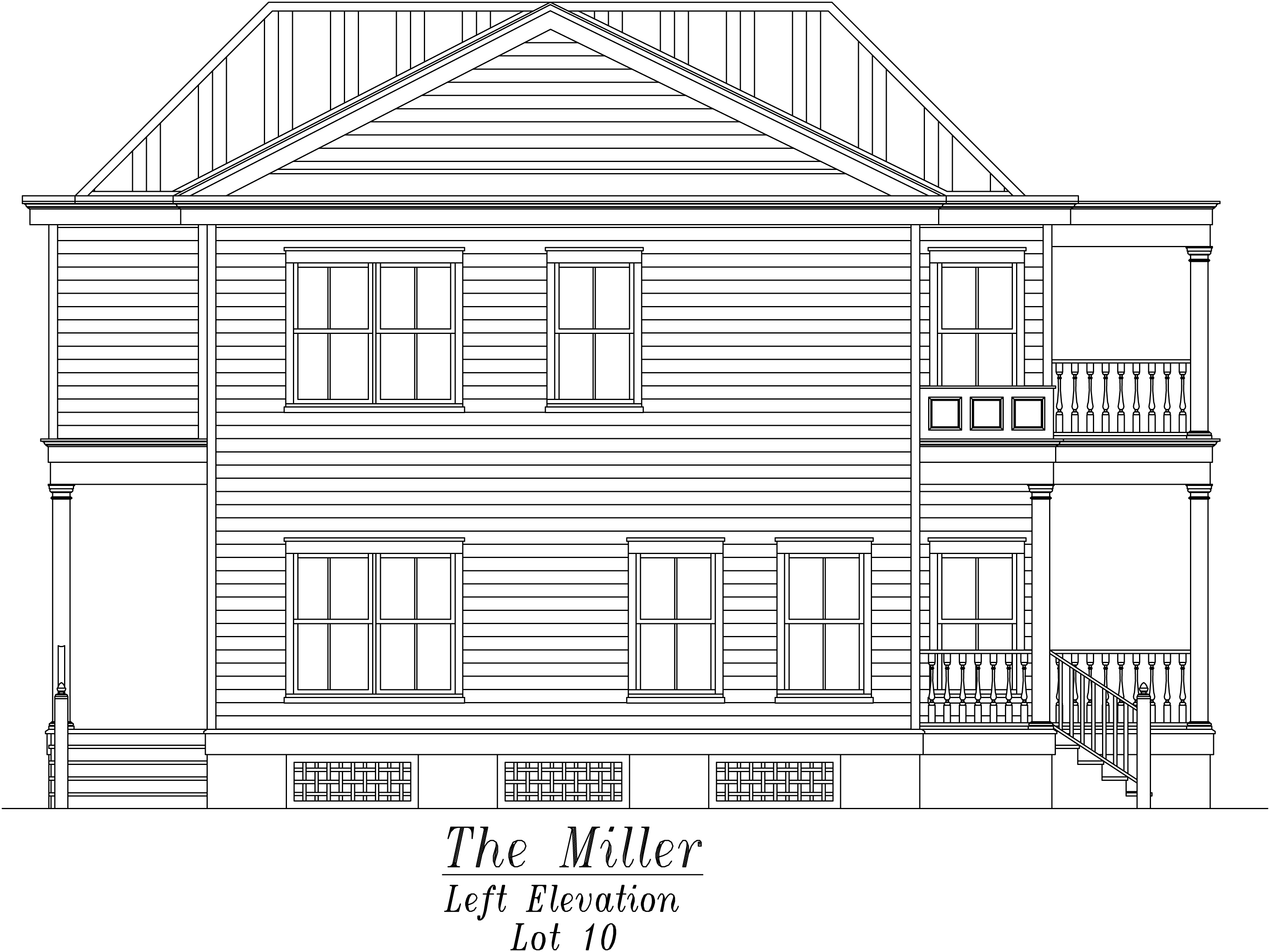 Miller Left Elevation