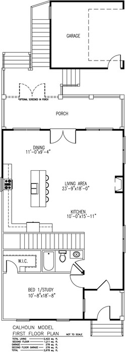Calhoun First Floor Plan