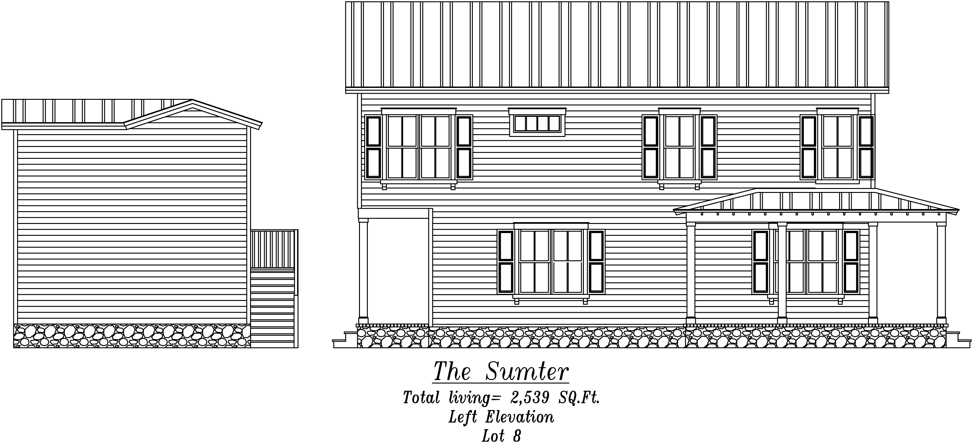 Sumter Left Elevation