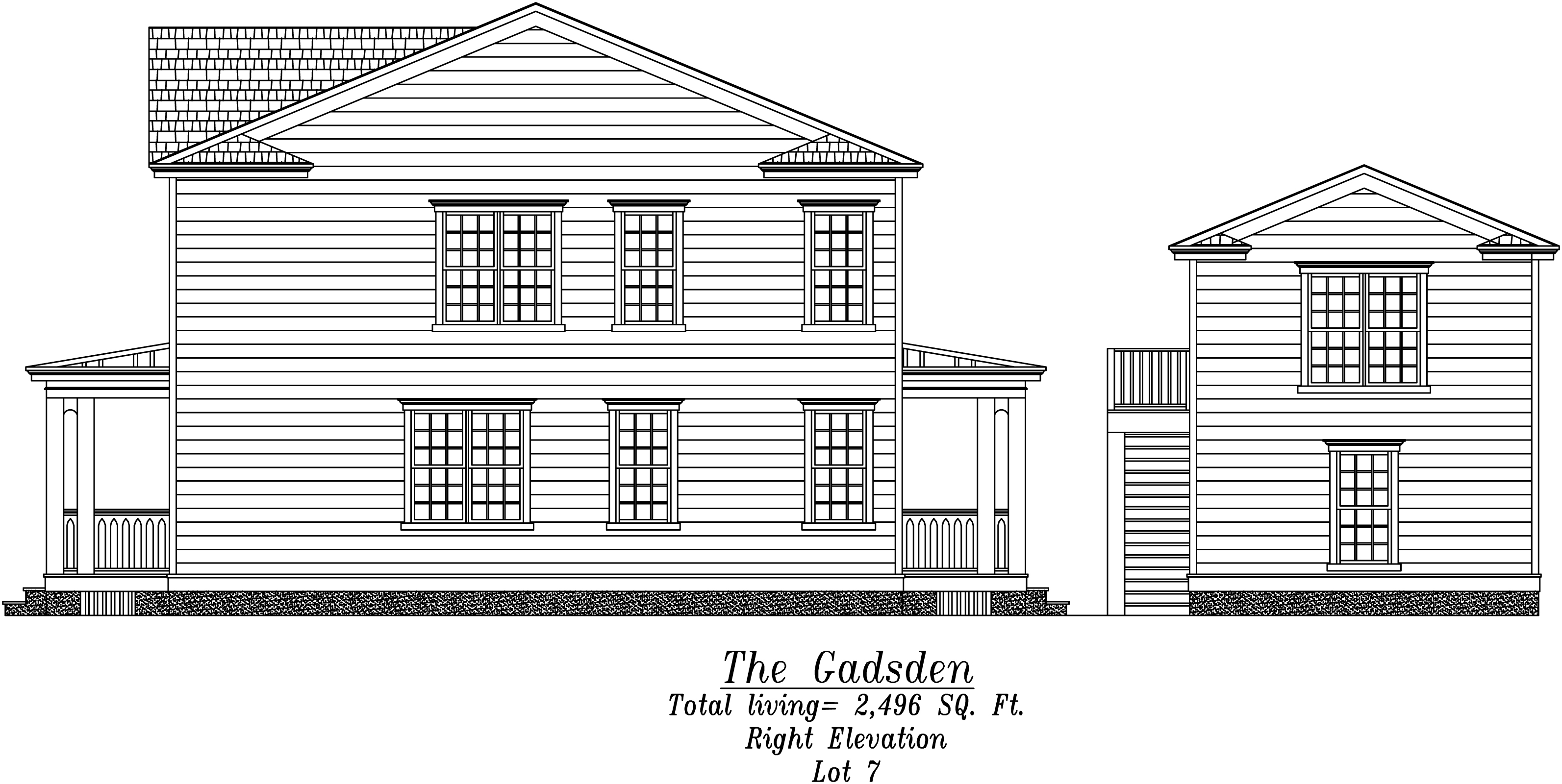 Gadsden Right Elevation
