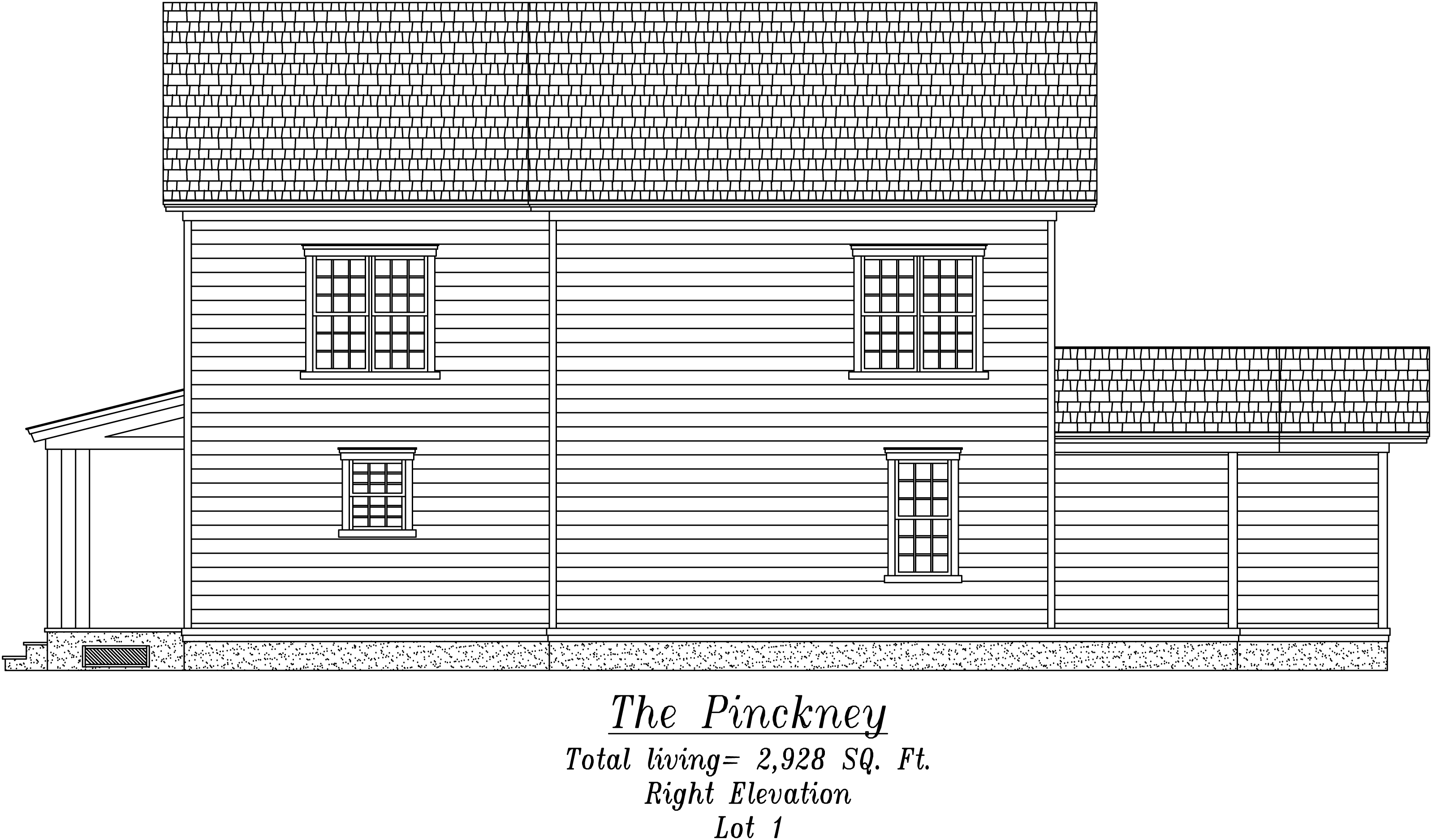 Pinckney Right Elevation