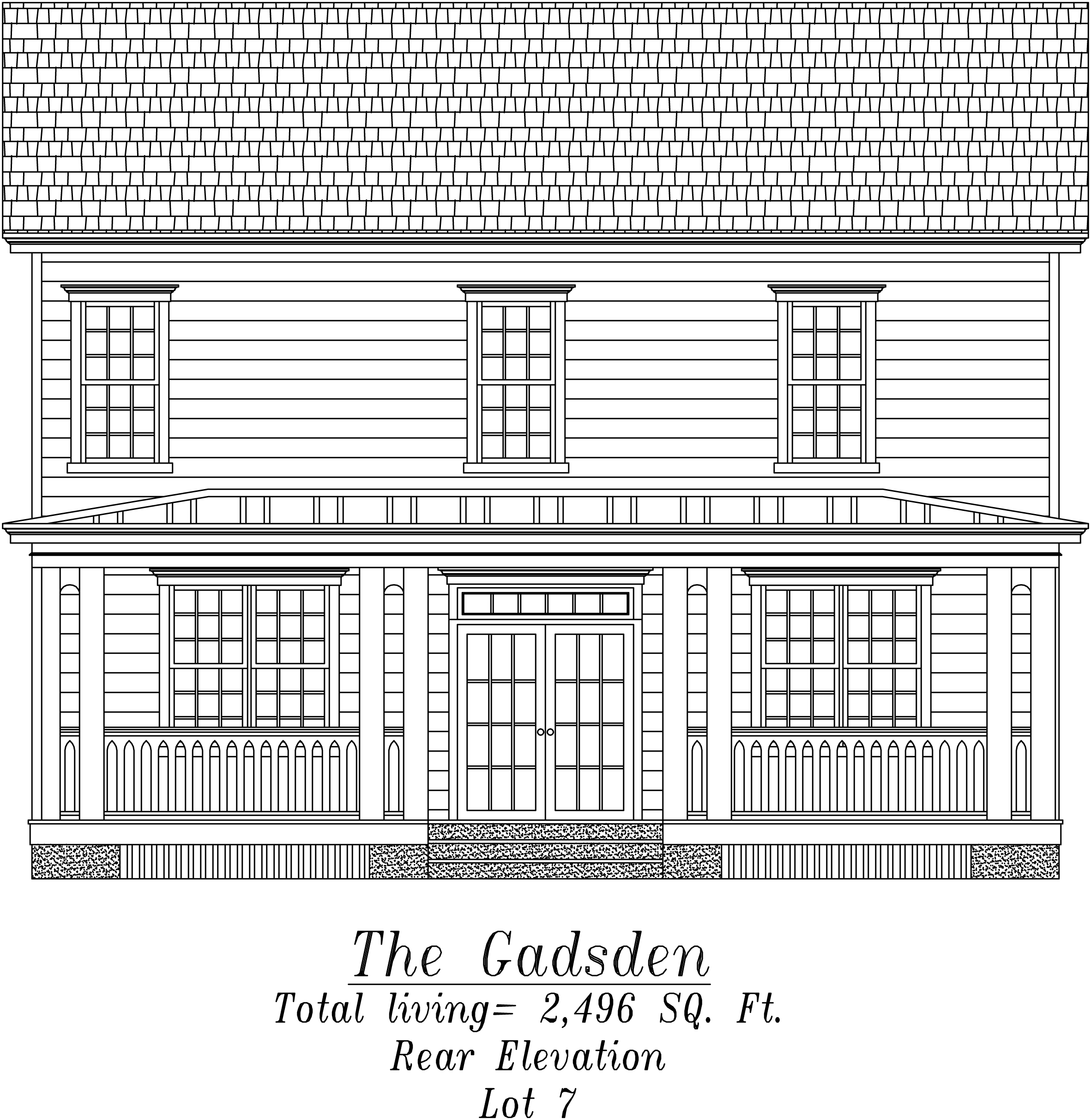 Gadsden Rear Elevation