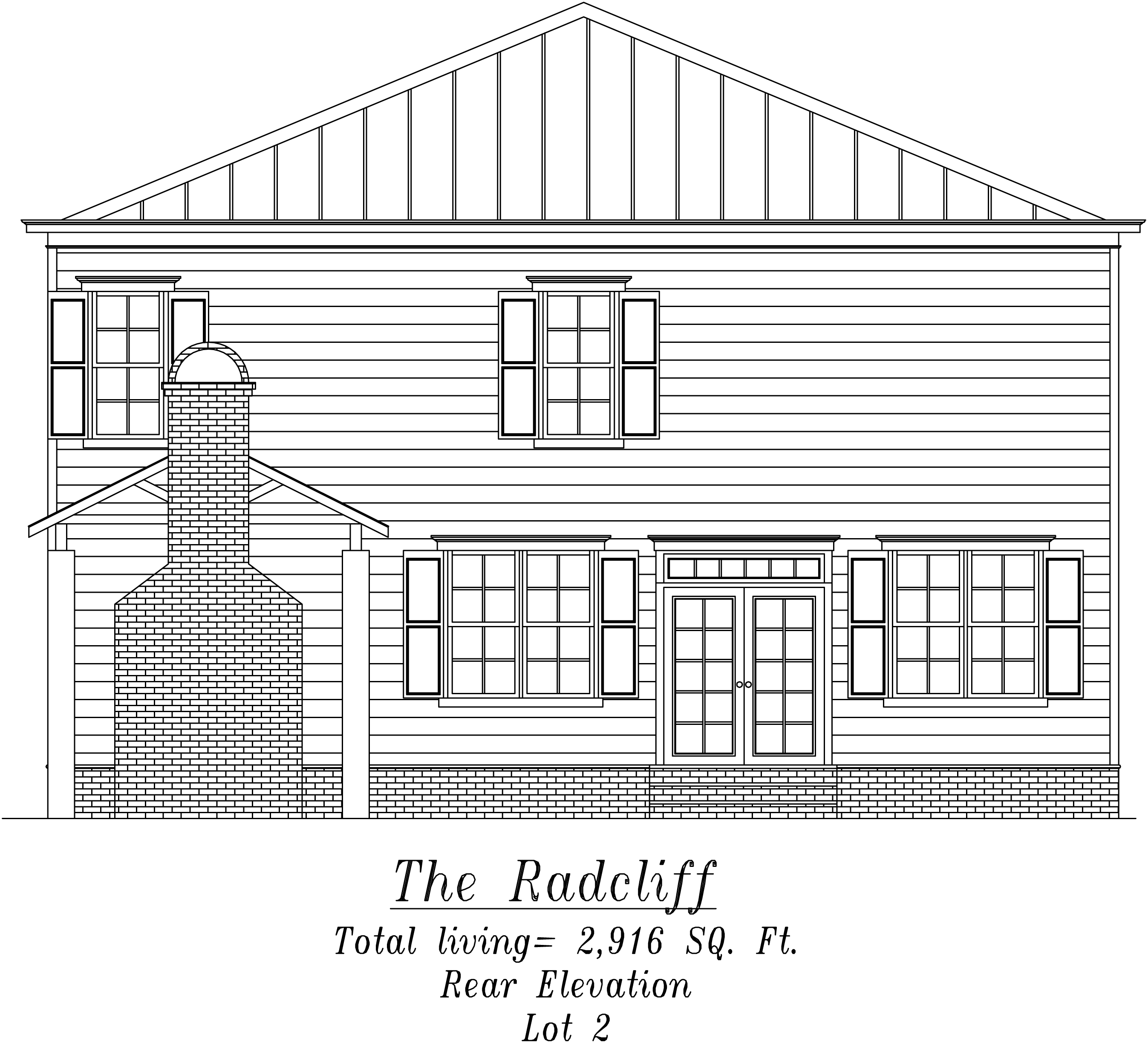 Radcliff Rear Elevation