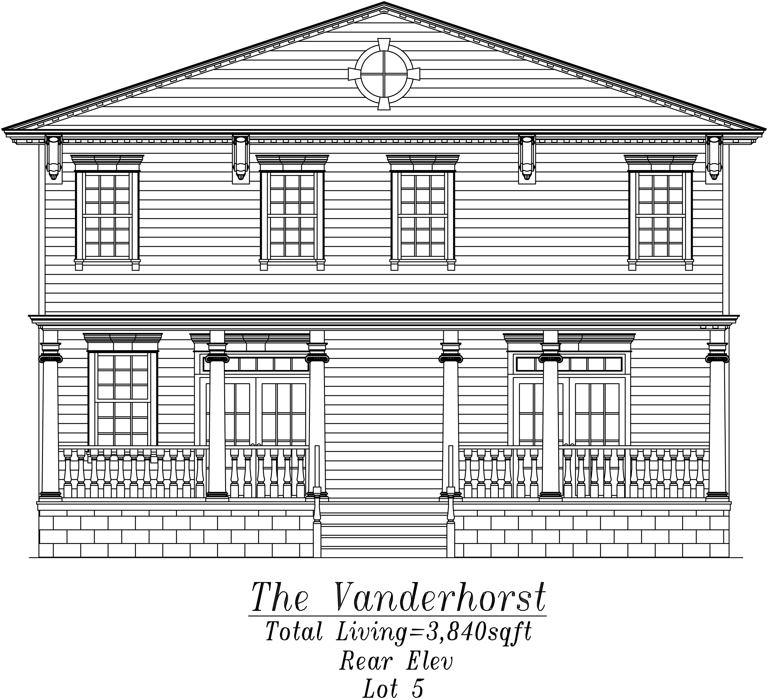 Vanderhorst Rear Elevation