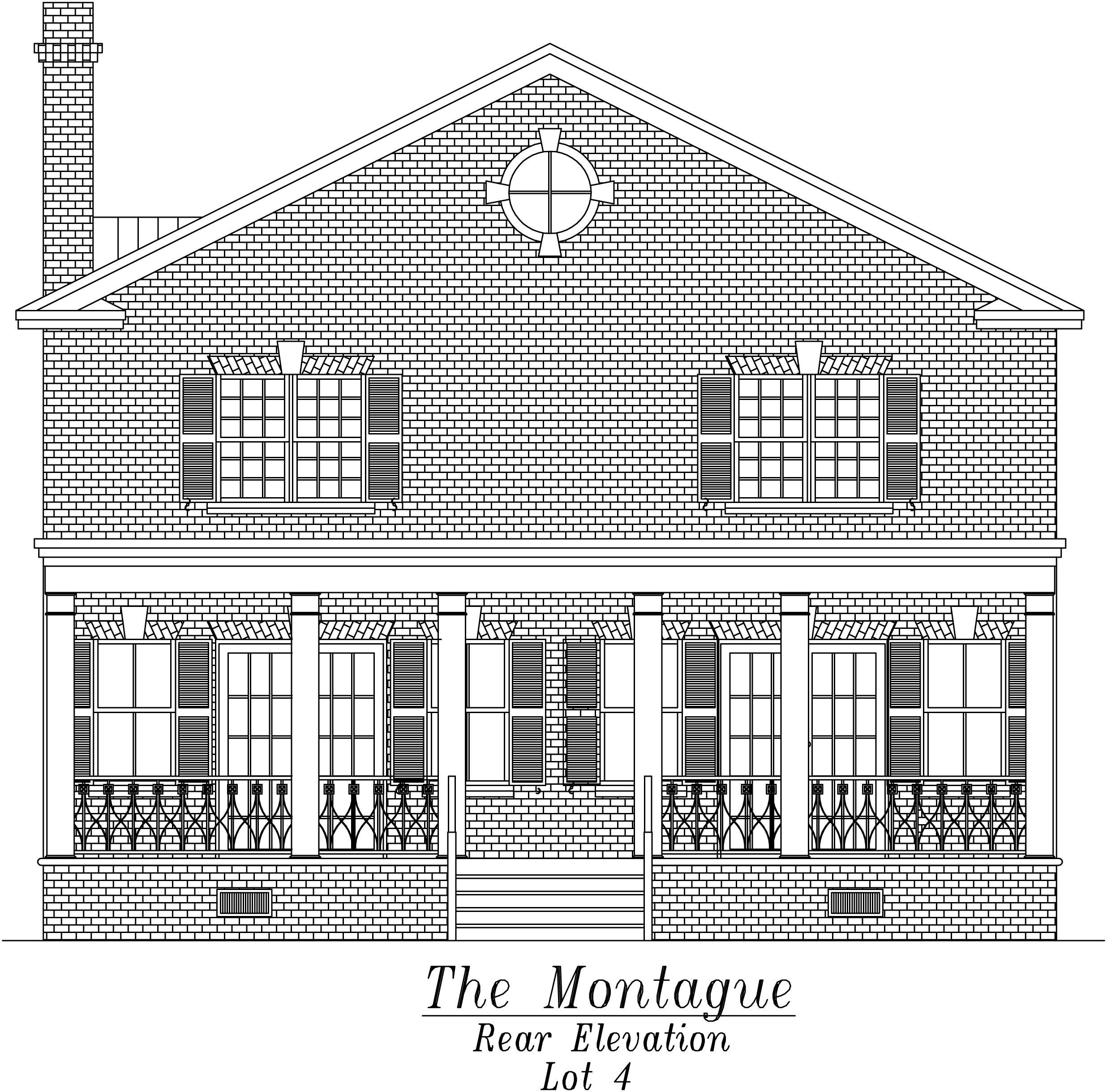 Montague Rear Elevation