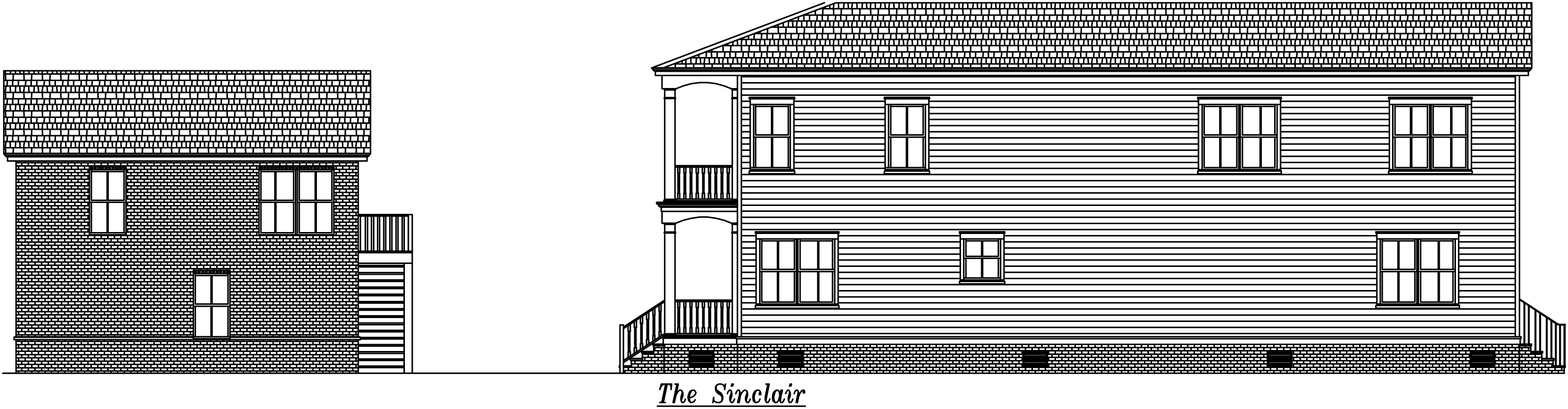 Sinclair Left Elevation