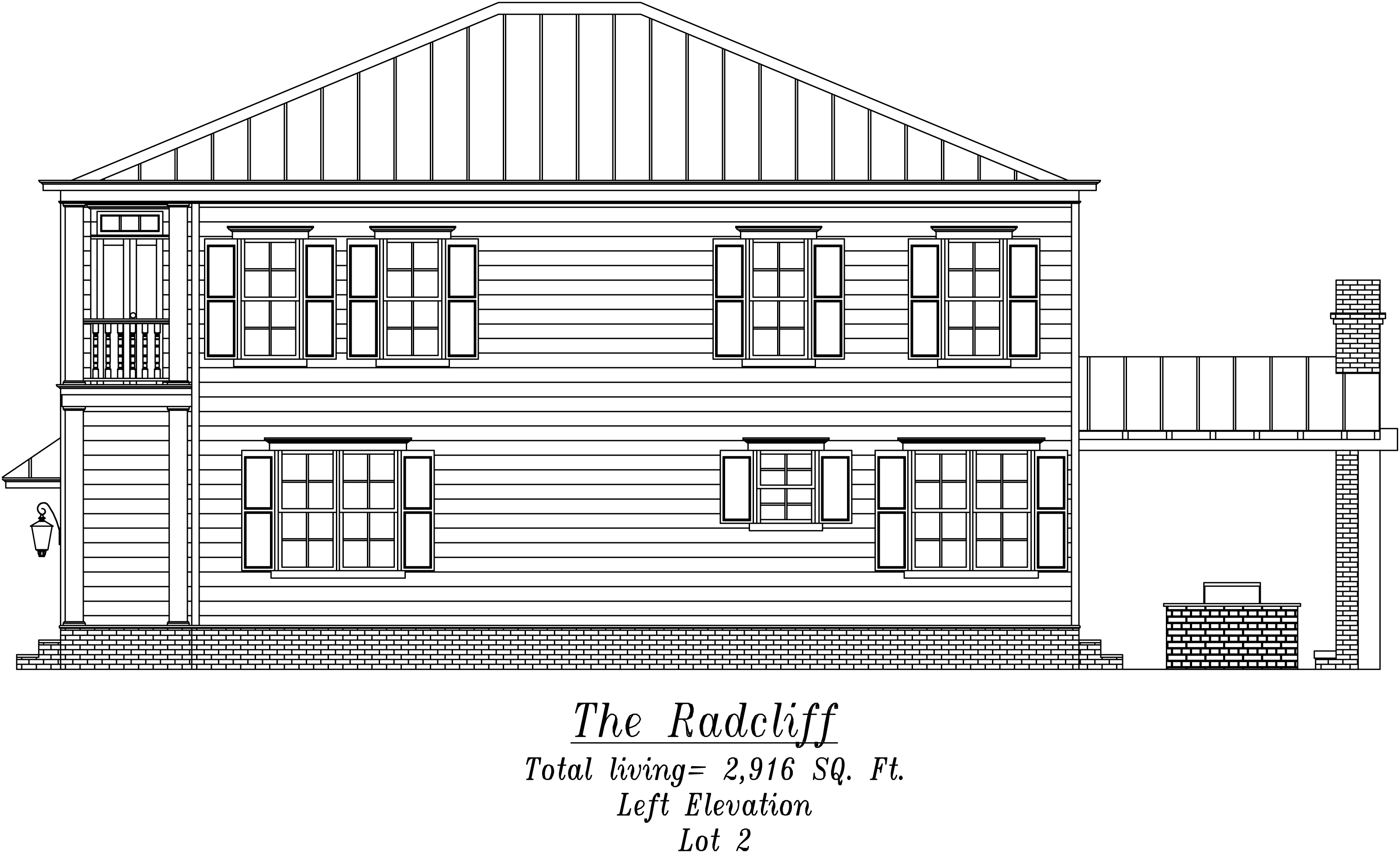 Radcliff Left Elevation