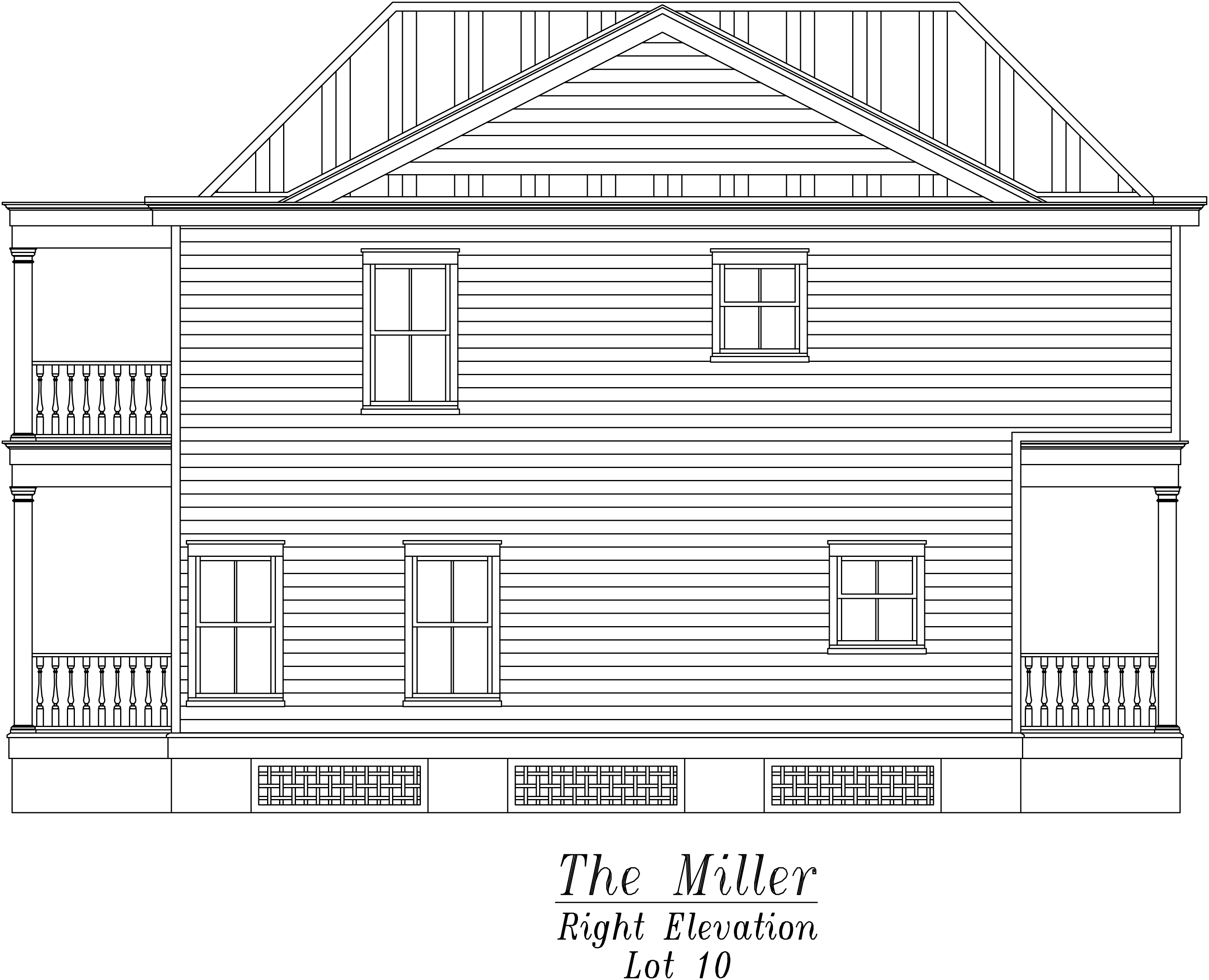Miller Right Elevation