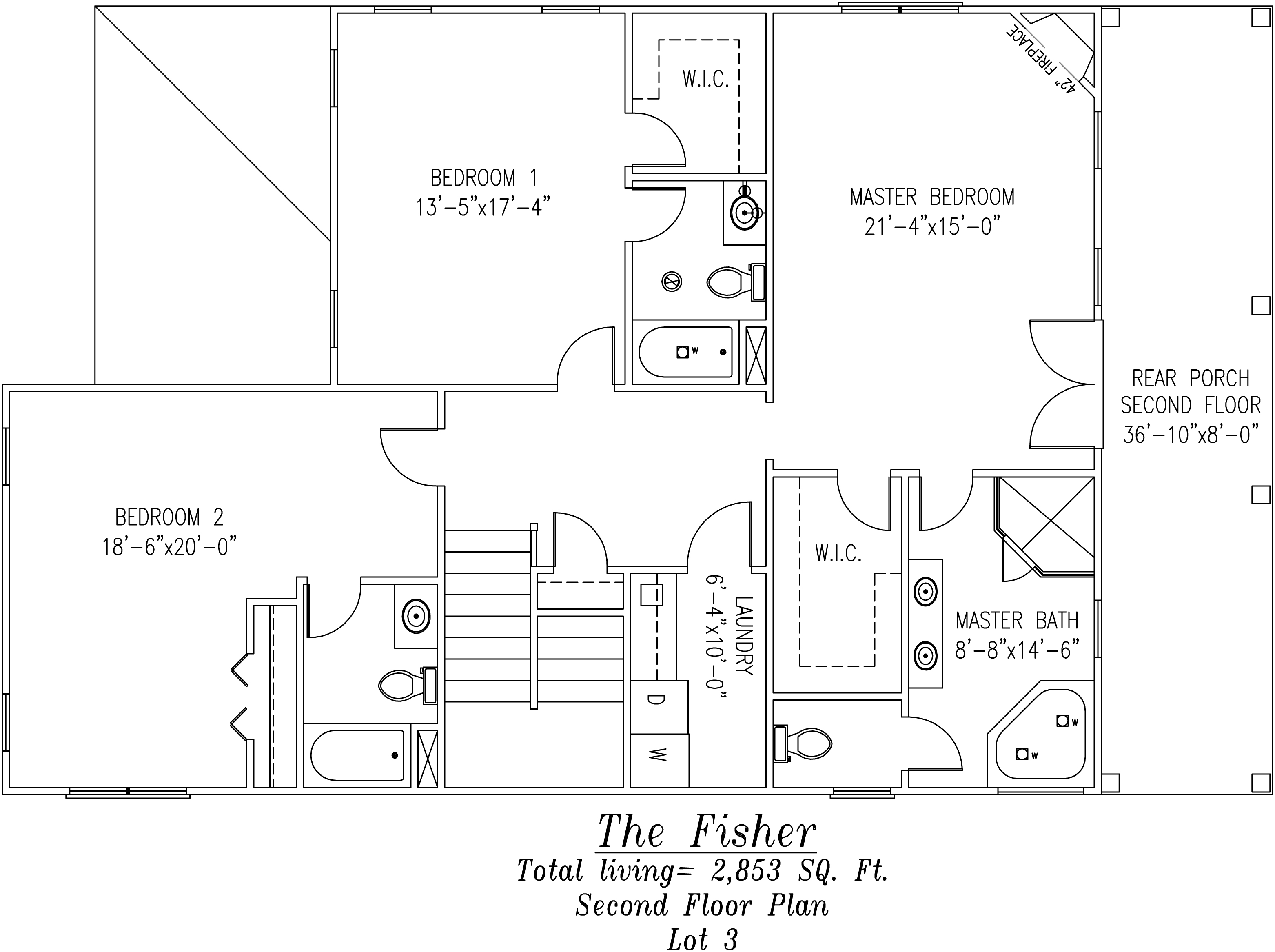 Fisher Second Floor Plan