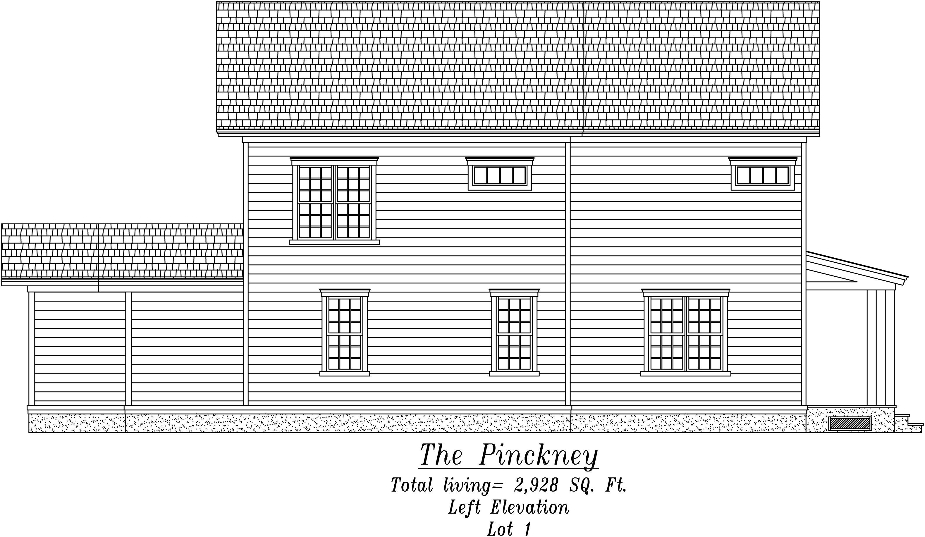 Pinckney Left Elevation