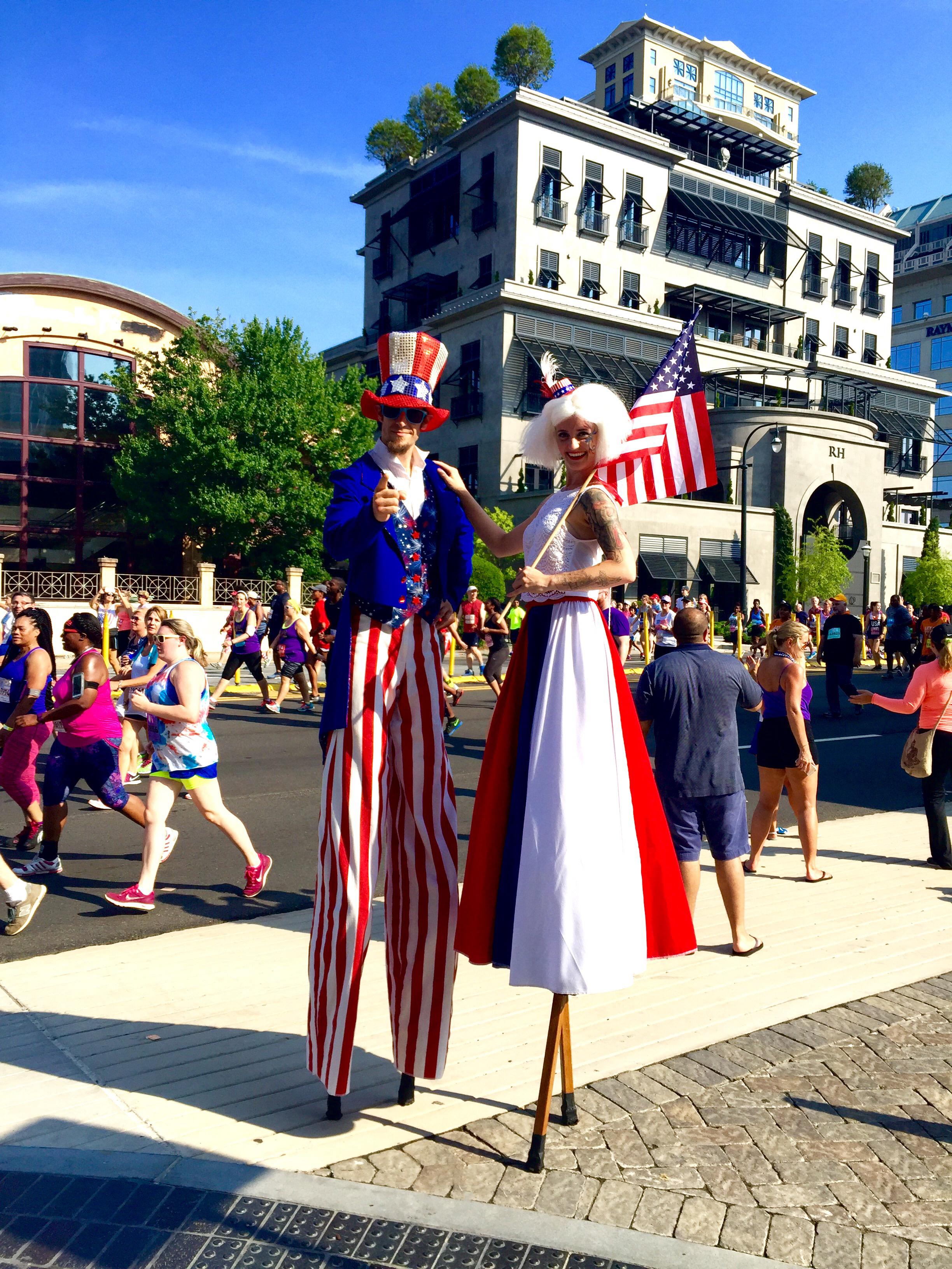 Patriotic Stilt Walkers