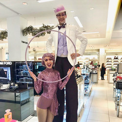 Hoop and Stilts at Saks Fifth Avenue