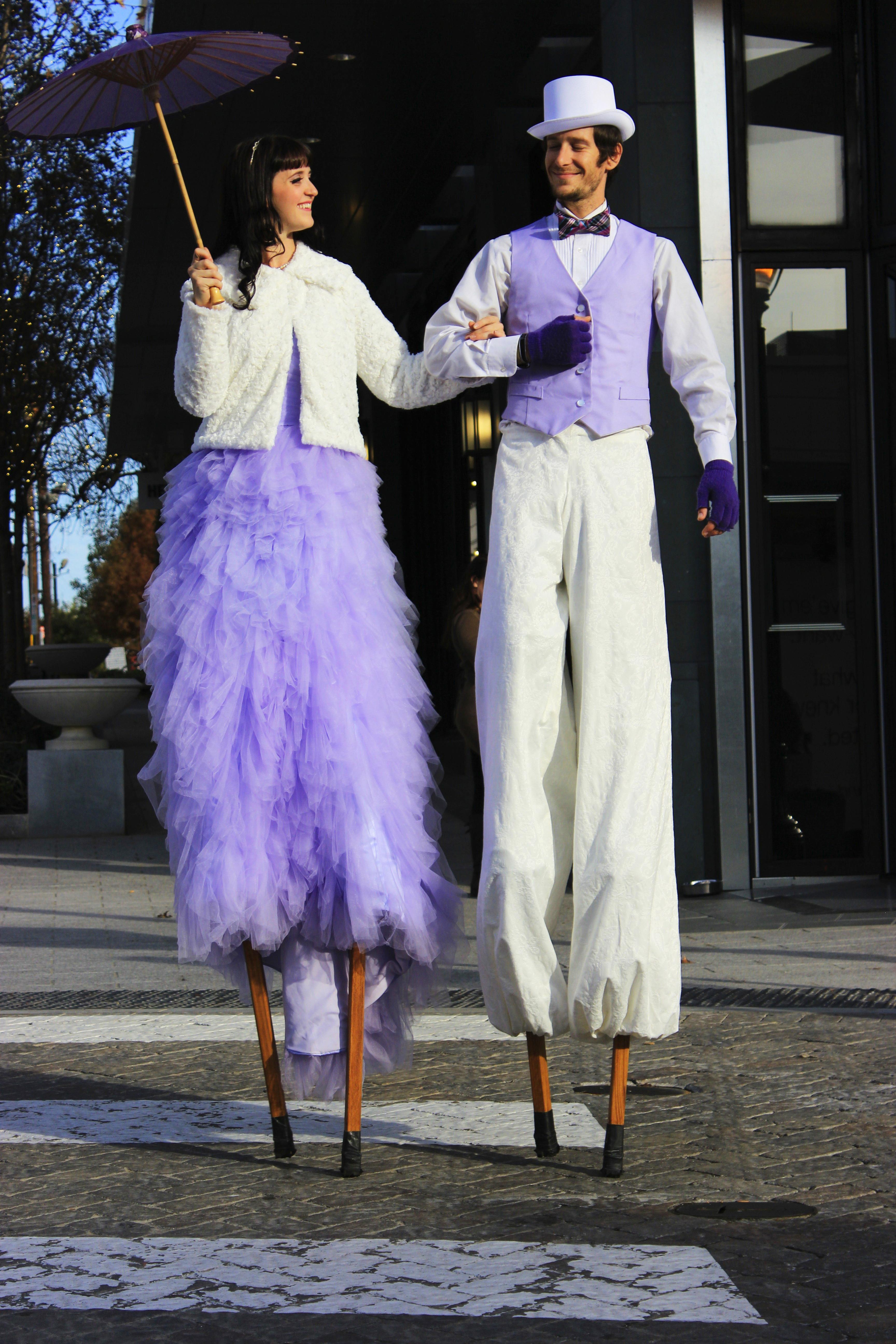 Stilt Walking Couple