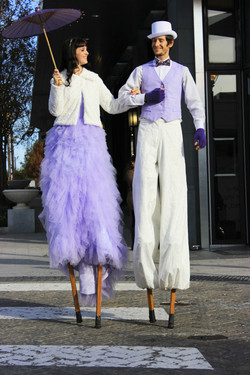 Stilt Walking Couple
