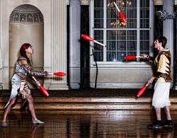 Partner Club Juggling