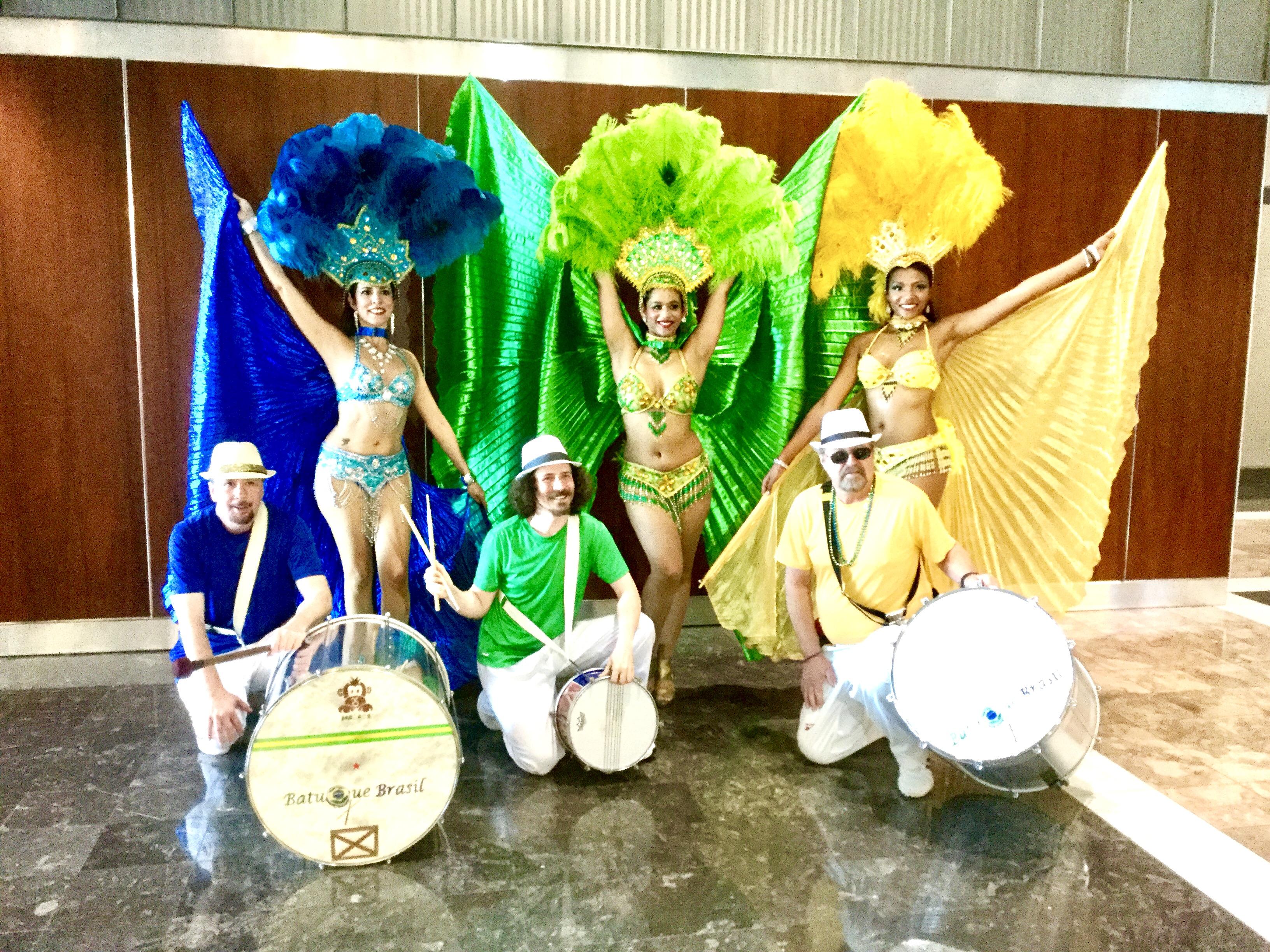Brazilian Samba with Drummers