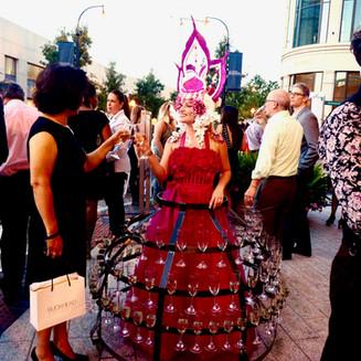 Champagne Presentation Hoop Skirt