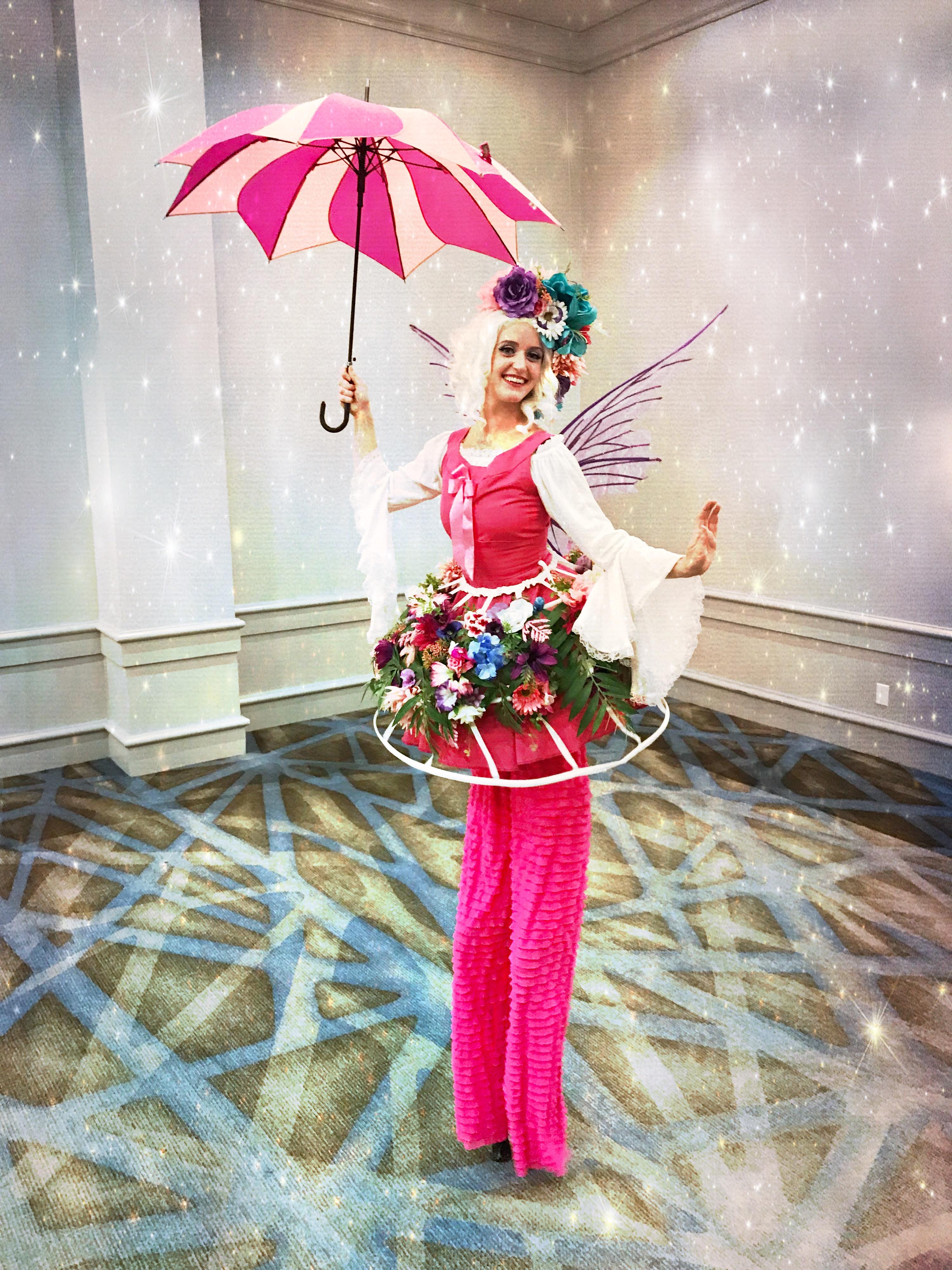 Flower Fairy Stilt Walker