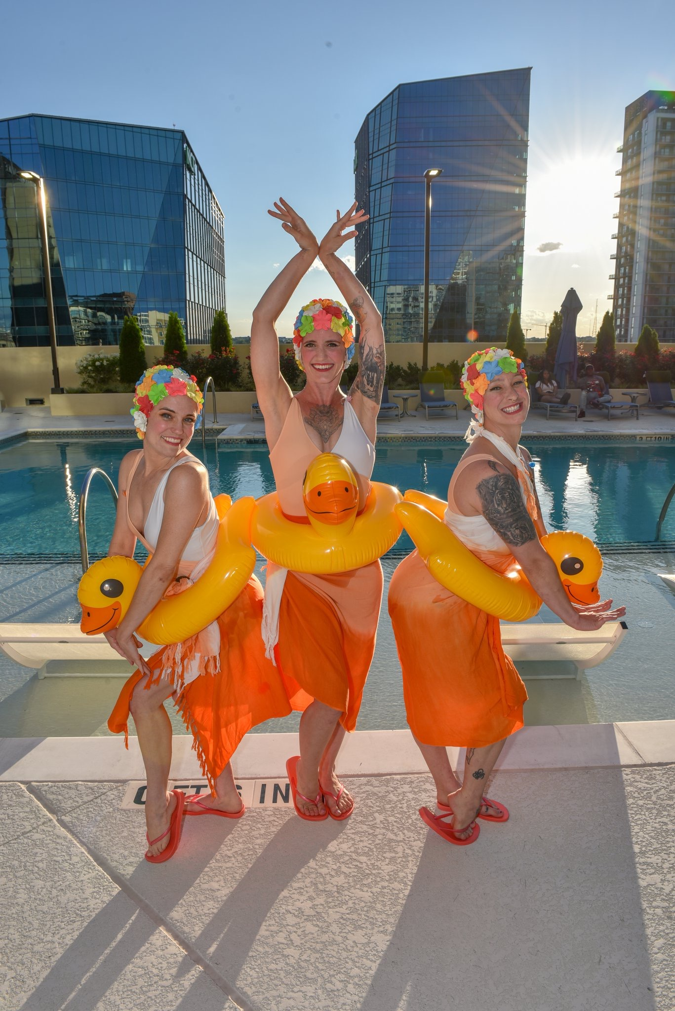 Comedic Synchronized Swimmers