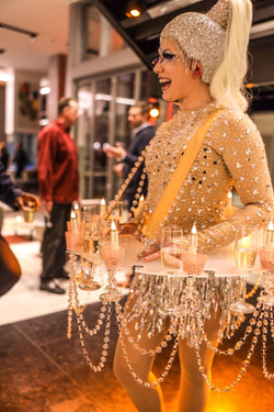 Chandelier Champagne Tutu Table