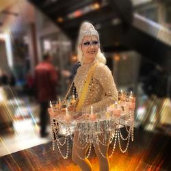 Chandelier Champagne Tutu