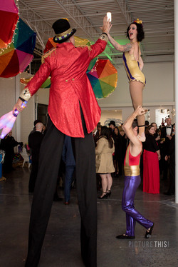 Stilt walker and acrobats!