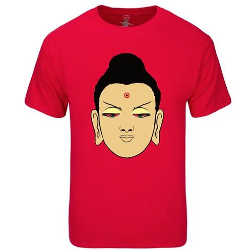 Buddha Face - Shirt Red
