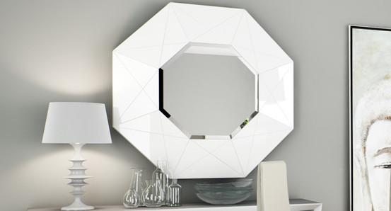 Sayulia Lecco fehér tükör