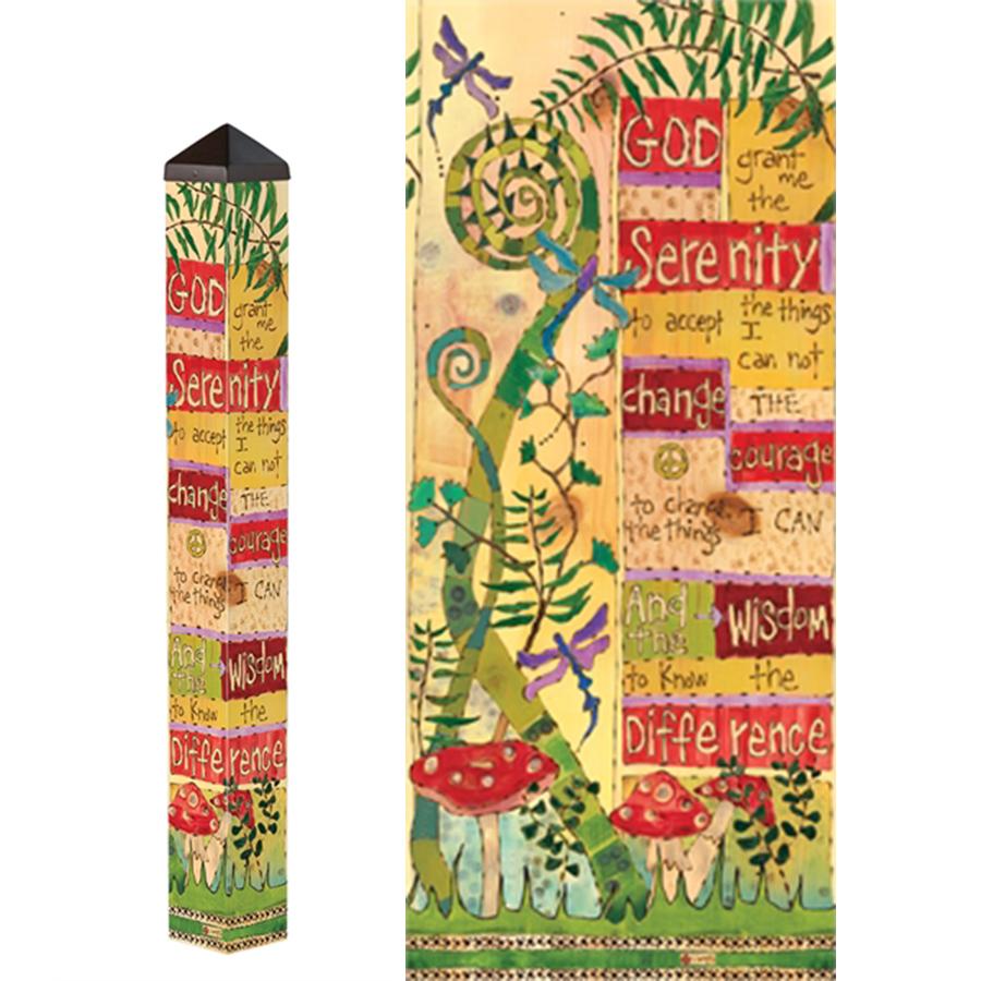 Serenity Prayer 3' Art PoleItem #- PL104