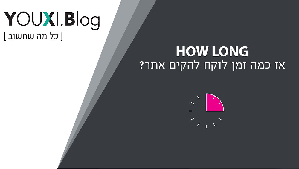 אז כמה זמן לוקח להקים אתר?