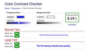 webaim- color contrast checker