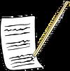 אייקון - עיפרון ונייר