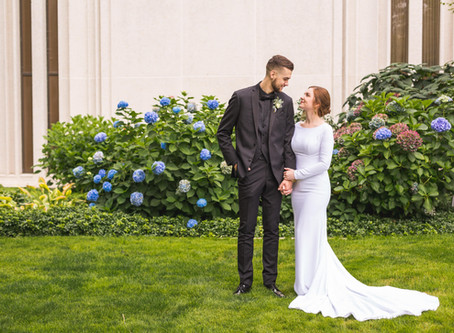 Tabitha + Hunter | Seattle LDS Temple Wedding & Hansen Place Reception