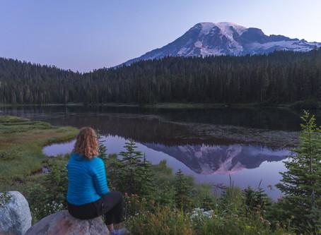Sunrise at Reflection Lakes & Sunset at Tipsoo Lake   Mt. Rainier Photography