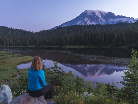Sunrise at Reflection Lakes & Sunset at Tipsoo Lake | Mt. Rainier Photography