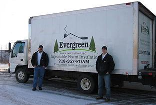 Evergreen Foam insulation truck