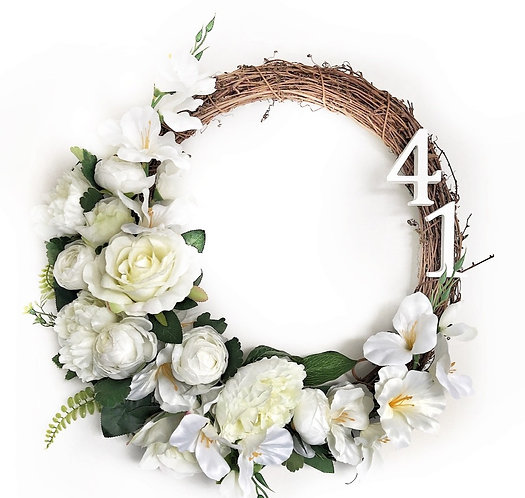 Door Wreath - Faux Flowers