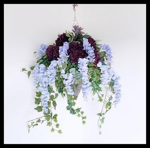 Hanging Basket - Lilac & Purple