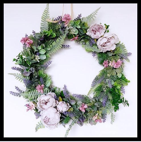 Spring Wreath - Lavender & Lilac