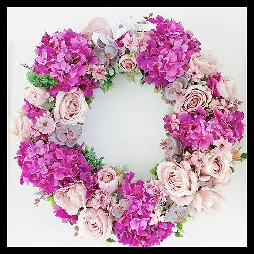 Spring Wreath - Fuchsia & Pink